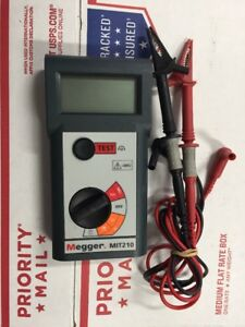 Megger Battery Operated Megohmmeter Mit200 With Case Free Shipping