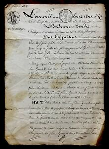 1816 Authentic Marriage Contract Document