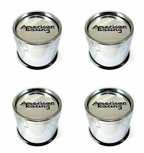 4 American Racing Chrome Center Caps 8l Ar901 Ar923 Mod 12 Ar172 Baja Ar767