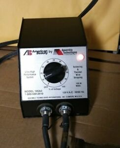 American Beauty 105a3 Resistance Soldering Power Unit 100w And Thermal Tweezer