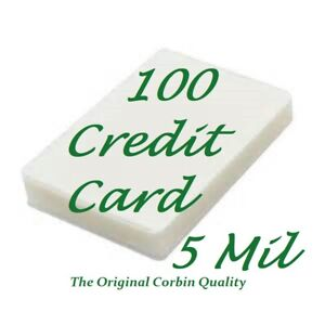 100 Credit Card Laminating Pouches Laminator 2 1 8 X 3 3 8 5 Mil Scotch Quality