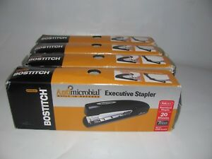 Lot 4 Stanley Bostitch Antimicrobial Black Executive Staplers B5000 New