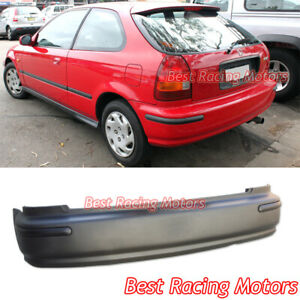 Sir Style Rear Bumper Cover Jdm Molding Fits 96 00 Honda Civic 3dr Hatch