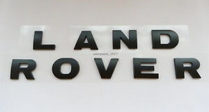 New Land Rover Black 3m Letters Hood Or Trunk Tailgate Emblem Badge Nameplate