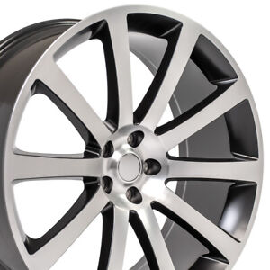 22 Rims Fit Dodge Chrysler 300 Srt Magnum Satin Black Mach D Wheels 2253