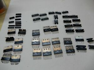 Huge Lot Of Audio Amplifier Circuits Ba521 8 Upc1025h 5 Upc576h 2