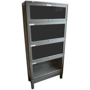 Storage File Cabinet From Lawyer s Barrister Bookcase Of Steel With Glass Doors