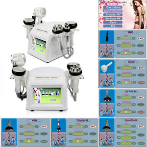 6in1 Rf Ultrasonic Cavitation Radio Frequency Vacuum Hot cold Slimming Machine