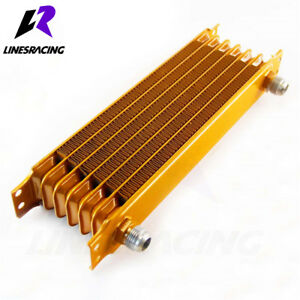 Universal 7 Row An10 Engine Transmission Trust Oil Cooler Gold