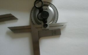 Vin Bevel Dial Protractor 360 Precision Machinist Tool 6 12 Stainless Steel