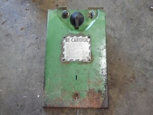 John Deere 3010 Gas Tractor Light ignition panel Tag 7030