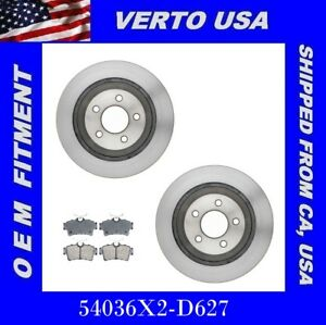 Rear Brake Rotors Pads For Ford Mustang Cobra 1994 1995 1996 1997 1998 To 2004