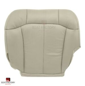 2000 2001 2002 Chevy Suburban 2500 Driver Side Bottom Shale Tan Vinyl Seat Cover