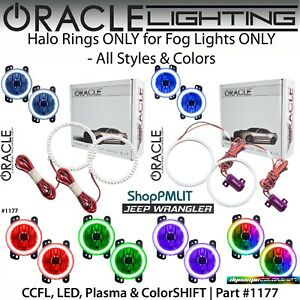 Oracle Halo Rings For Fog Lights For 07 18 Jeep Wrangler Jk all Colors 1177