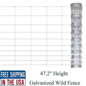 164 Ft Galvanized Steel Wire Mesh Fence Strong Field Wild Garden Fencing Roll Us