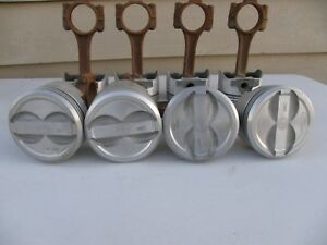 Trw L2403f Forged Pistons 350 Chevy Dished Pistons Standard Bore W Rods Free 48