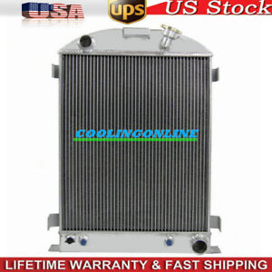 4 Row Aluminum Radiator For 1933 1934 33 34 Ford grill shells Chevy V8 engine