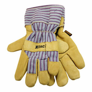 Kinco Lined Grain Pigskin Work Gloves Size Large Construction Farm 3 Pairs