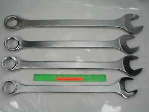 4pc Jumbo Combination Wrench Set blackhawk Usa