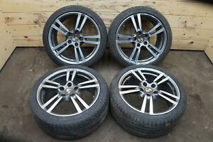 Set 20 Inch Turbo 2 Wheel Rim Michelin Tire 97036217806 Porsche Panamera 2010 16