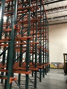 Pallet Racking System 85 Sections 4 Deep Drive in 25 Tall Up rights 4 Tiers