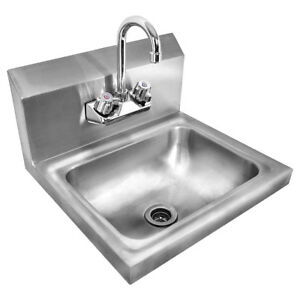 Industrial Wall Mount Sink Commercial Stainless Steel Mud Utility Room Bathroom