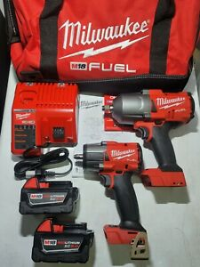 Milwaukee M18 Fuel 3 8 1 2 Dr High Torque Impact Wrench Combo Kit 2988 22