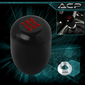 M10x1 5 Thread 5 Speed Type R Black Shift Knob Red Lettering For Honda Acura
