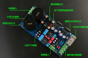Lm3886 Power Amplifier Board Diy Kit Exquisite Sound Resistance Dynamic