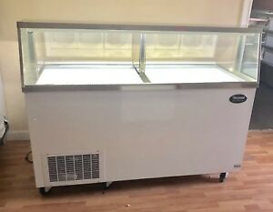 Ice Cream Freezer Dipping Cabinet Show Case 12 Flavor 67 New