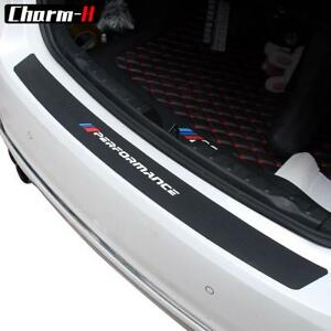 M Performance Rubber Car Rear Bumper Trim Guard Plate Protector Sticker For Bmw