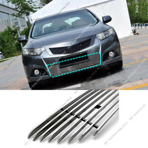 For Honda Acura Tsx 2009 2010 K Metal Front Bumper Loewr Grille Grill Trim Cover