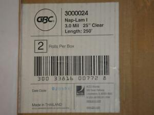 Gbc 3000024 Thermal Lamination Film Roll 3 mm 25 inches X 250 feet Pack Of 2