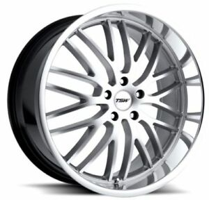 17x8 Tsw Snetterton 5x120 Rims 20 Hyper Silver Wheels Set Of 4