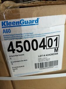 Kimberly clark Kleenguard A60 Blue Coveralls Bloodborne Pathogen Protection