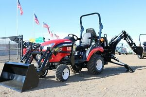 239 Mo 2018 Yanmar 221xh tlb 4x4 Tractor Loader Backhoe Loaded With Options
