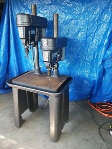 Rockwell Delta 15 665 Drill Press 2 Gang Dual Head Machinist Lathe Milling Two