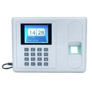 2 4 Biometric Fingerprint Password Attendance System Check in Time Clock S6p9