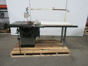Delta 34 806 10 Unisaw Tilting Arbor Table Saw 5hp 230 460 3 Phase