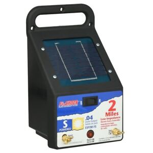 Fi shock Outdoor 2 miles Solar Powered Electric Wire Fence Energizer Controller