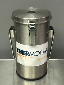 Thermolyne Thermoflask Dewar Flask Model 2122 With Handle And Lid Used Nice