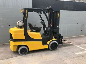 2009 Yale Glc080vx Fork Lift 4 Stage Mast High Reach With Hydro Smooth