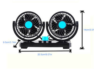 Car 12v Fan Caravan Boat Rotation Powerful Camper Van Travel No Slip Mount