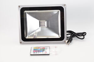 Comercial Grade Led 30w 9 X 7 X 4 Square Multicolor Flood Light 110v 240v