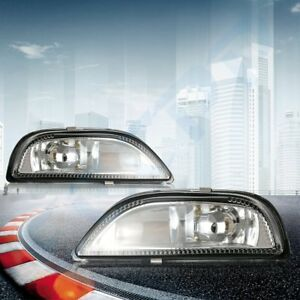 For 2001 2002 Toyota Corolla Replacement Bumper Fog Lights Lamp Clear Lens