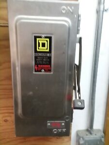 Square D 30 Amp 600 V Disconnect Stainless Steel