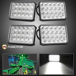 2 Pair Rectangle Led Combine Light Kit John Deere 9500 9450 9410 9400 Sts Cts Sh