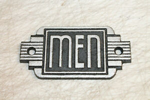Vintage Style Men Restroom Signs Cast Iron Gas Station Garage Man Cave
