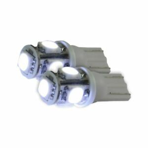Recon 264201wh 194 168 T10 360 Degree White Led Dome Map License Plate Bulbs