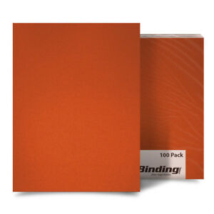 New Orange 23mil Sand Poly 8 5 X 11 Binding Covers 25pk Free Shipping